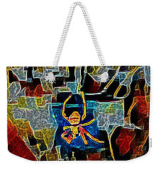 Weekender Tote Bag featuring the photograph Spider by Karen Newell