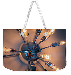 Weekender Tote Bag featuring the photograph Spider Light Reflected Portrait by T Brian Jones
