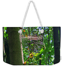 Spider Web In A Forest Weekender Tote Bag