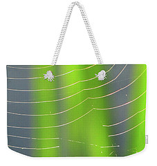 Spider Web In Light Weekender Tote Bag