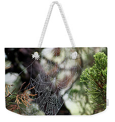 Spider Web In Tree Weekender Tote Bag