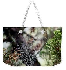 Spider Web In Tree Weekender Tote Bag