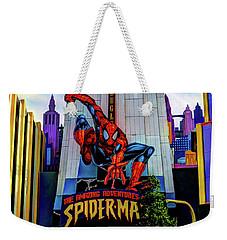 Weekender Tote Bag featuring the photograph Spiderman by Tom Prendergast