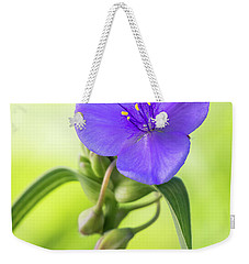 Spiderwort Wildflower Weekender Tote Bag