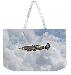 Weekender Tote Bag featuring the digital art   Spifire - Us Eagle Squadron by Pat Speirs