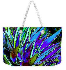 Spiked Aloe Blue Weekender Tote Bag