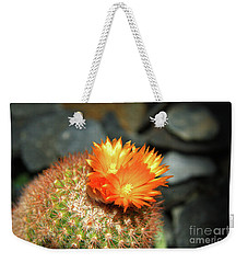 Spiky Little Cactus With Orange Flower Weekender Tote Bag