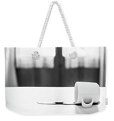 Weekender Tote Bag featuring the photograph Spilt Coffee by Gary Gillette