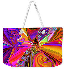 Spinning Colors Weekender Tote Bag