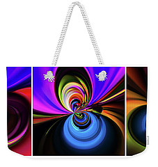 Spinning Weekender Tote Bag by Elaine Hunter