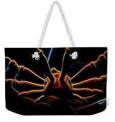 Spinning Wheel In Neon Weekender Tote Bag by Aliceann Carlton