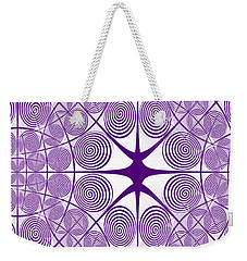 Spiral Abstract 7 Colour Choice Weekender Tote Bag