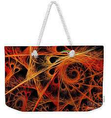Weekender Tote Bag featuring the digital art Spiral Abstract by Andee Design