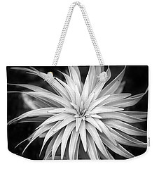 Weekender Tote Bag featuring the photograph Spiral Black And White by Christina Rollo
