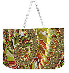 Weekender Tote Bag featuring the photograph Spiral Fractal by Bonnie Bruno