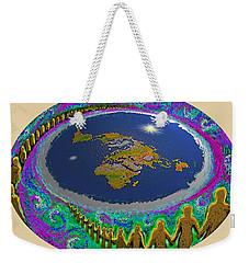 Spiral Of Souls Flat Earth Weekender Tote Bag
