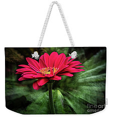 Spiral Pink Flower Focus Weekender Tote Bag