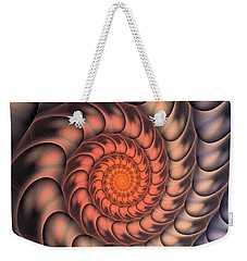 Weekender Tote Bag featuring the digital art Spiral Shell by Anastasiya Malakhova