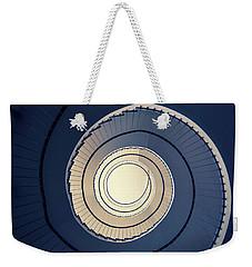 Spiral Staircase In Blue And Cream Tones Weekender Tote Bag by Jaroslaw Blaminsky