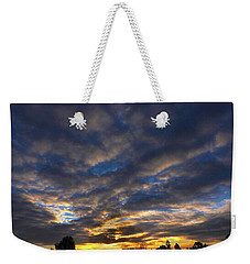 Weekender Tote Bag featuring the photograph Spiral Sunset by Mark Blauhoefer