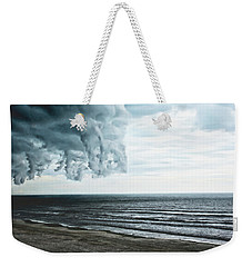 Spiraling Storm Clouds Over Daytona Beach, Florida Weekender Tote Bag