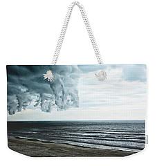 Spiraling Storm Clouds Over Daytona Beach, Florida Weekender Tote Bag