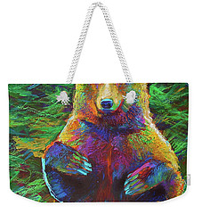 Spirit Bear Weekender Tote Bag by Robert Phelps