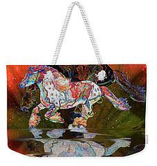 Spirit Horse II Leopard Gypsy Vanner Weekender Tote Bag by Michele Avanti
