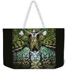 Weekender Tote Bag featuring the digital art Spirit In The Woods by Vincent Autenrieb