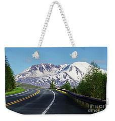 Spirit Lake Highway To Mt. St. Helens Weekender Tote Bag