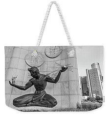 Spirit Of Detroit And Renaissance Center  Weekender Tote Bag