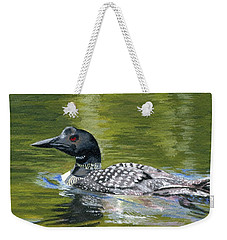 Weekender Tote Bag featuring the painting Spirit Of The North by Lynne Reichhart