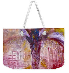 Weekender Tote Bag featuring the painting Spirit Tree by Claire Bull