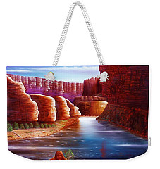 Weekender Tote Bag featuring the painting Spirits Of The River by Gene Gregory