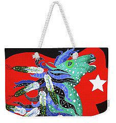 Weekender Tote Bag featuring the painting Spirits Rise by Debbie Chamberlin
