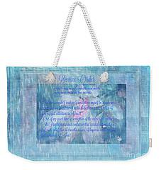 Weekender Tote Bag featuring the digital art Spiritual Art  Devine Order by Sherri Of Palm Springs