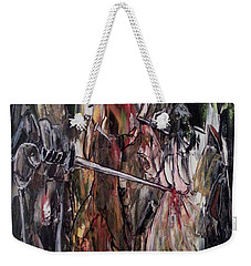 Weekender Tote Bag featuring the painting Spiritual Void by Reed Novotny