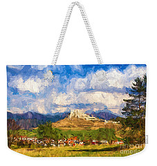 Castle Above The Village Weekender Tote Bag