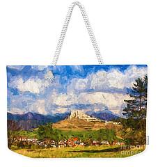 Castle Above The Village Weekender Tote Bag by Les Palenik