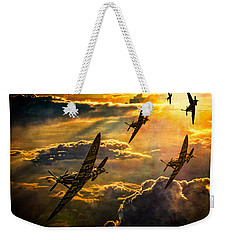 Spitfire Attack Weekender Tote Bag by Chris Lord