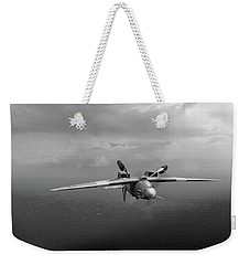 Weekender Tote Bag featuring the photograph Spitfire Pr Xix Ps915 Inverted by Gary Eason