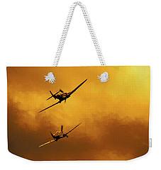 Spitfire Sunset Weekender Tote Bag