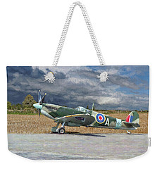 Spitfire Under Storm Clouds Weekender Tote Bag