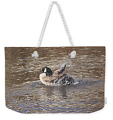 Weekender Tote Bag featuring the photograph Splash About by Wendy Coulson