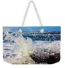 Wave Crash And Splash Weekender Tote Bag