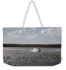 Weekender Tote Bag featuring the photograph Splash At Lake Wollumboola by Miroslava Jurcik