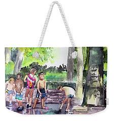 Splash In Battery Park Weekender Tote Bag