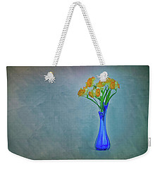 Splash Of Blue And Yellow Weekender Tote Bag