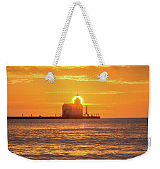Weekender Tote Bag featuring the photograph Splash Of Light by Bill Pevlor