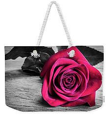 Splash Of Red Rose Weekender Tote Bag